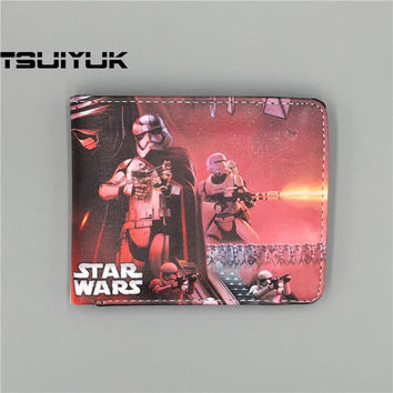 2017 Hot New Movie Star Wars The Force Awakens Logo wallets Purse short bifold clip money card leather men purse
