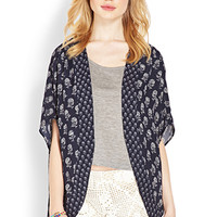 Relaxed Floral Cardigan
