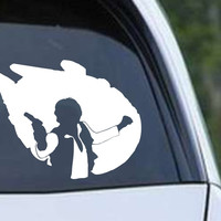 Star Wars - Han Solo Millenium Falcon Die Cut Vinyl Decal Sticker