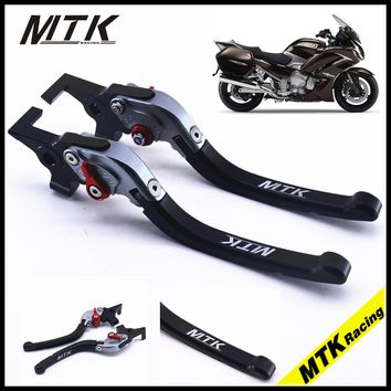 MTKRACING CNC Long Brake Clutch Lever For Yamaha FJR1300  XJR1300 SUPERTENERE/XT1200ZE Motorcycle parts adjusters