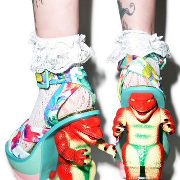 Irregular Choice Dino Heels Multi