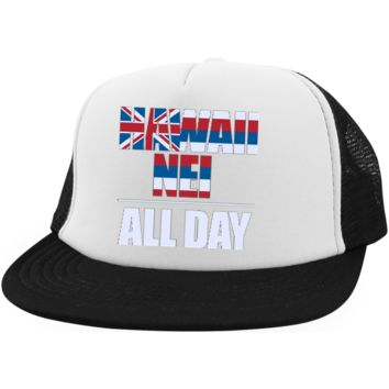 Hawaii Nei ALL DAY Trucker Hat with Snapback