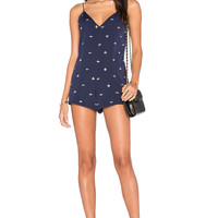 NBD Isn't She Lovely Romper in Navy