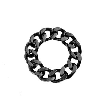 Mister  Curb Ring - Black