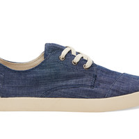 TOMS Light Blue Chambray Men's Paseos Blue