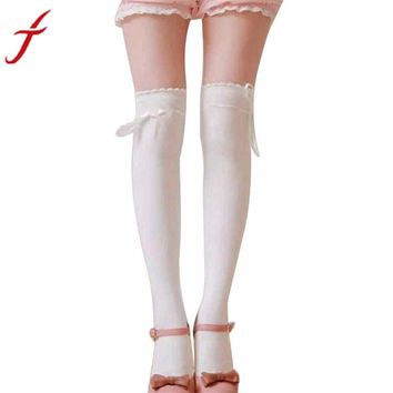 JECKSION Womens Over the Knee Girls Sexy Cotton High Thigh High Hosiery Stockings #LYW