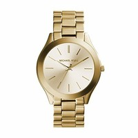 Michael Kors Women's 41mm Stainless Steel Goldtone Slim Runway Watch