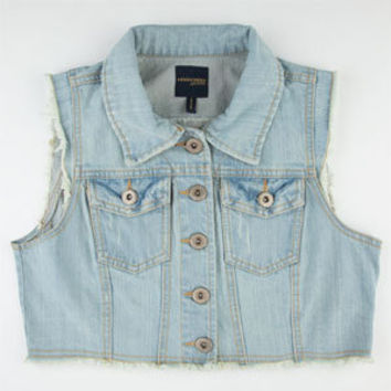 HIGHWAY Crop Womens Denim Vest 205968858 | Vests | Tillys.com