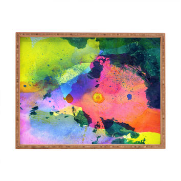 CayenaBlanca Ink Splashes Rectangular Tray