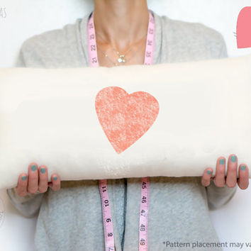Valentines Day, pillow, gift for her,  Distressed pink heart, cotton anniversary gift, 2 year Cotton anniversary gift, Valentines Gift Idea