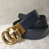 GUCCI fashion casual casual wild classic double G buckle jeans belt