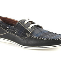 Polar Fox Men's 30187B Plaid Design Lightweight Casual Boat Shoes