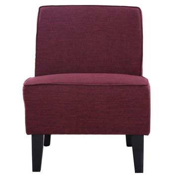 Solid Color Armless Accent Chair for Living Room Bedroom Office Various Colors