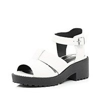 River Island Girls white clumpy sandal