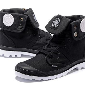 Palladium Baggy Lll Men Turn High Boots Black White - Beauty Ticks