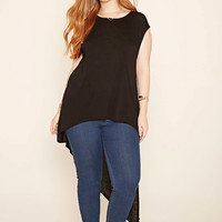 Plus Size Asymmetrical Top