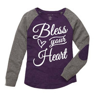 Bless Your Heart Shirt. Preppy Patch Tee