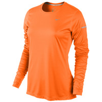 Nike Dri-FIT Miler Long Sleeve Top - Women's at Lady Foot Locker