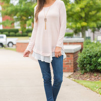 Out Of My Way Top, Pink