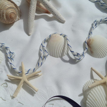 Nautical Garland - You can quickly decorate any table, shelf, etc. Easy simple garland for a beachy look. Comes in most colors. 4' or 8'