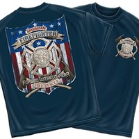 American Firefighter Forged Without Fear T-Shirt