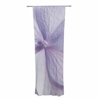 "Suzanne Harford ""Pastel Purple Hydrangea Flower"" Floral Lavender Decorative Sheer Curtain"