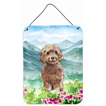 Mountian Flowers Labradoodle Wall or Door Hanging Prints CK1988DS1216
