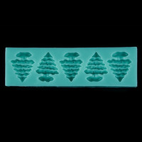 3D 5 Tree Shape Cake Mould Silicone Handmade Soap Molds. = 1704143044