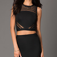 Short Sleeveless Two Piece Dress by Wow Couture