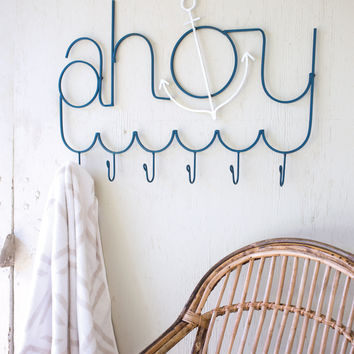 Painted Metal Ahoy Coat Rack