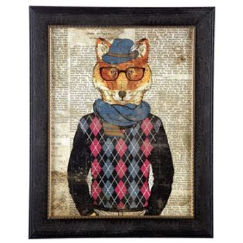 Hipster Fox Framed Wall Art | Shop Hobby Lobby