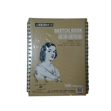 16K A6 100G 32 Sheets Side Bound Spiral Premium Sketch Drawing Book Pad Paper
