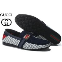 Gucci Men's Fashion Cool Edgy Flats Shoes