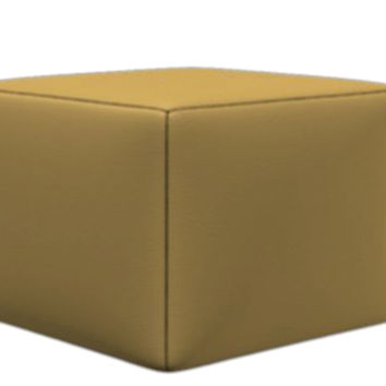 Trento Leather Storage Ottoman by Natuzzi Editions