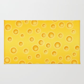 Swiss Cheese Texture Pattern Rug by Tees2go