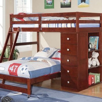 Jacob Bunk Bed with Dresser and Bookcase