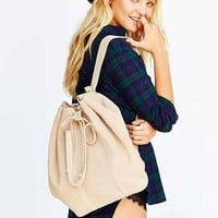 Convertible Suede Tote Bag- Brown One
