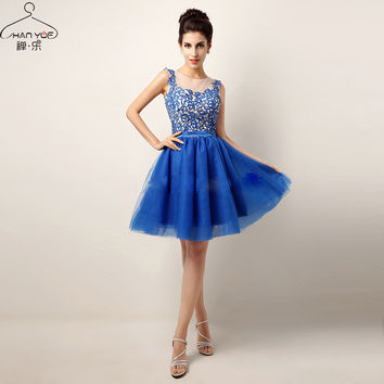 CHANYUE Fashion Lace Slim Elegant Sexy Waist Dress Vestidos Sleeveless Ball Gown Club Kleid  Graduation Ceremony Dresses