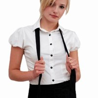 Womens Suspenders Black