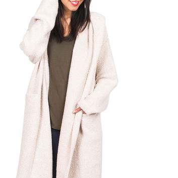 Overcast Hooded Knit Coat