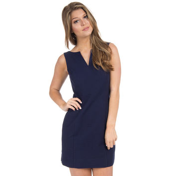 The Avery Solid Seersucker Dress in Navy by Lauren James - FINAL SALE