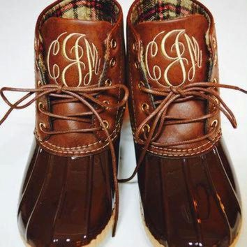 ONETOW Monogrammed Duck Boots - Duck Boots - Monogram Duck Boots - Duck Boots Monogrammed - R