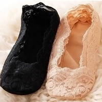 Ladies Korean Lace Summer Transparent Socks [9259040260]