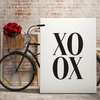 "PRINTABLE ART ""XOXO"" Scandinavian Art Fashion Art Print Minimalism Art Printable Wall Art Digital Instant Download Nordic Design"