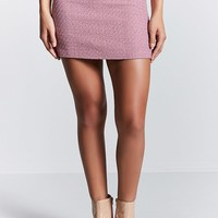 Metallic Grid Tweed Mini Skirt
