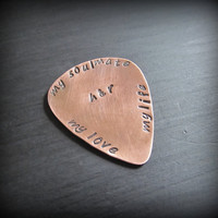 Custom Guitar Pick / Plectrum  Copper  Hand by WithLoveHeather