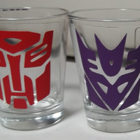 Transformers Shot Glasses by TheCraftyGeek86 on Etsy