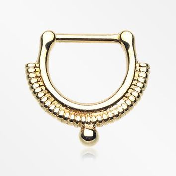 Golden Bali Ascension Septum Clicker