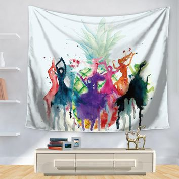 Tapestry Polyester Printed Colorful Pineapple Home Decoration Wall Blankets Hanging Bohemian Decor Tapiz Pared Hippie Tapestries