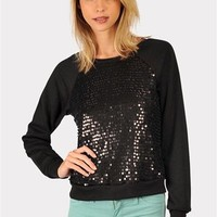 Forever Young Sequined Sweater - Black at Necessary Clothing